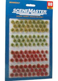 Walthers Scenemaster HO Blooming Flowers Patches 105pack, LIST PRICE $17.98