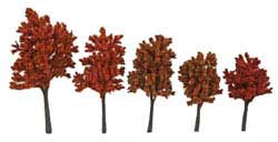 "Walthers Scenemaster HO Autumn Trees w/Pin Base 4-5.5"" 10pk, LIST PRICE $19.98"