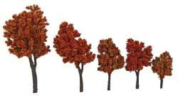 "Walthers Scenemaster HO Autumn Trees w/Pin Base 1-5/8 - 4"" 10pk, LIST PRICE $19.98"