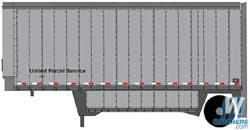 Illinois Central 35/' Fluted-Side Trailer 2 Walthers SceneMaster #949-2416 HO