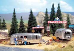 Walthers Scenemaster HO Camp Site w/Two Trailers, DUE 7/1/2016, LIST PRICE $34.98