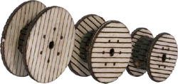 Walthers Scenemaster HO Cable Reels, DUE 11/28/2017, LIST PRICE $7.98