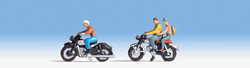 Walthers Scenemaster HO Motorcyclists 3 Riders & 2 Bikes, LIST PRICE $17.98
