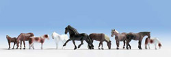 Walthers Scenemaster HO Majestic Horses, LIST PRICE $14.98