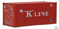Walthers Scenemaster HO 20' Container w/Flat Panel K-Line, LIST PRICE $9.98