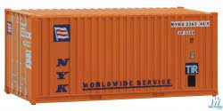 Walthers Scenemaster HO 20' Container w/Flat Panel NYK, LIST PRICE $9.98