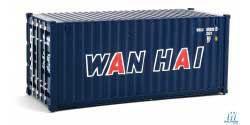 Walthers Scenemaster HO 20' Corrugated Container Wan Hai New Scheme, LIST PRICE $9.98