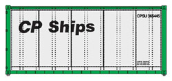 Walthers Scenemaster HO 20ft Smooth Side Container CP Ships no Multi mar, LIST PRICE $11.98