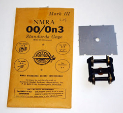 NMRA ON3/OO TRACK STANDARDS GAUGE, LIST PRICE $12
