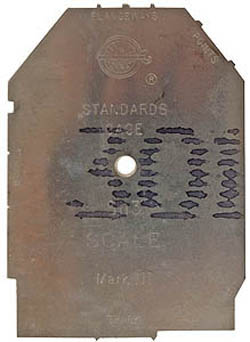 NMRA SN3 TRACK STANDARDS GAUGE, LIST PRICE $12